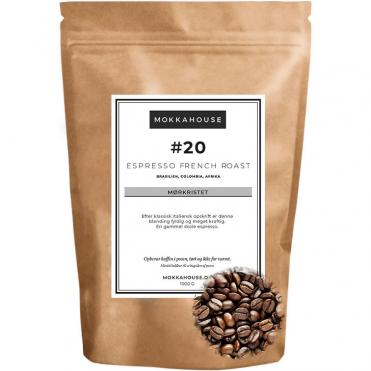 20 Espresso french roast morkristet