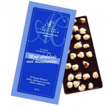 Aalborg chokoladen mork chokolade hasselnodder