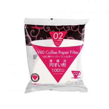 Hario papir filter 2 cup 100stk VCF 02 100W